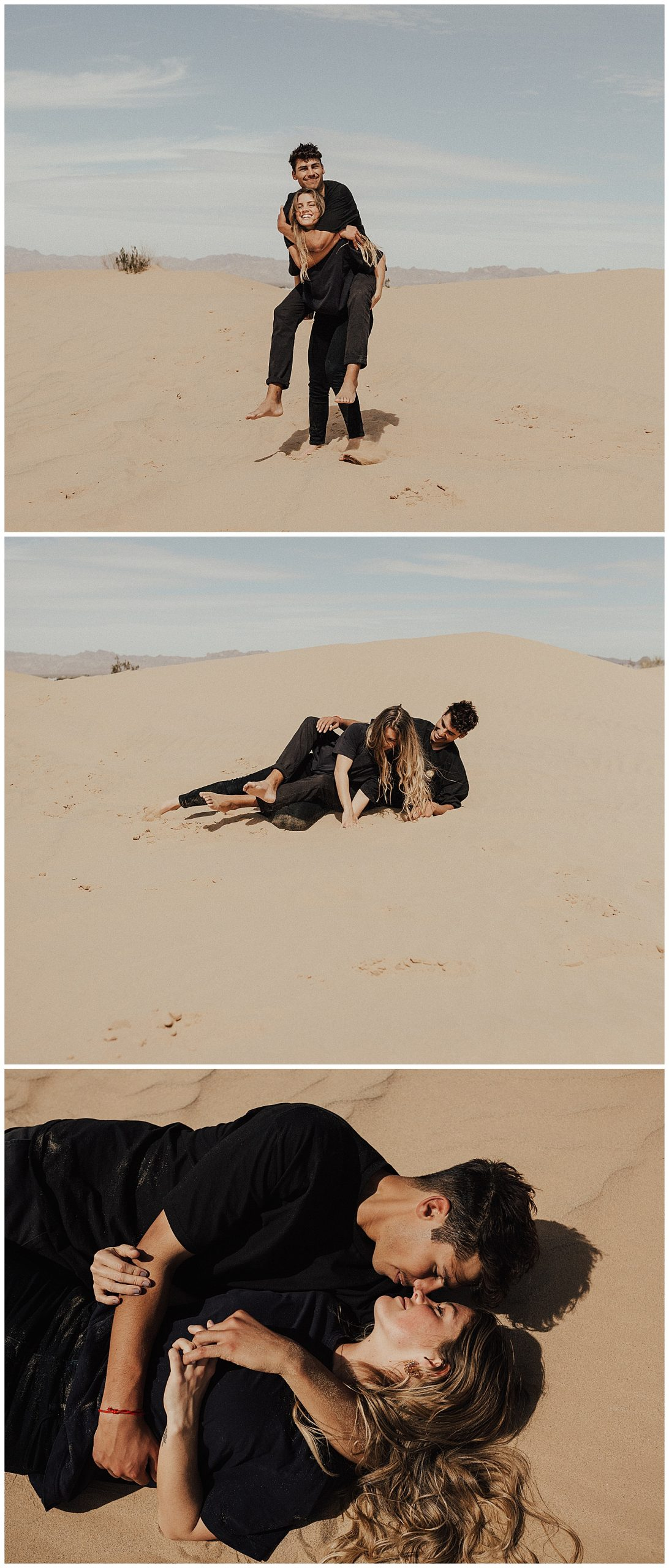 Glamis Sand Dunes Engagement photos, Engagement Photographer, elopement photographer, Sand dunes Engagement shoot, June Bug Weddings, Adventurous love story, hello may magazine